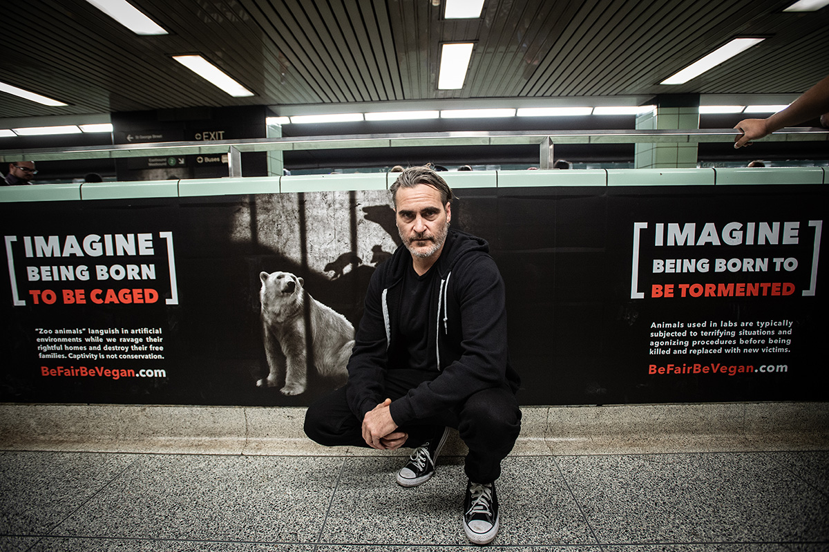Joaquin Phoenix Shows His Solidarity with Toronto's Be Fair Be Vegan Campaign